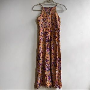 Floral urban outfitters halter maxi dress